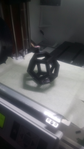 hollowed DODECAHEDRON 3D Print 208994