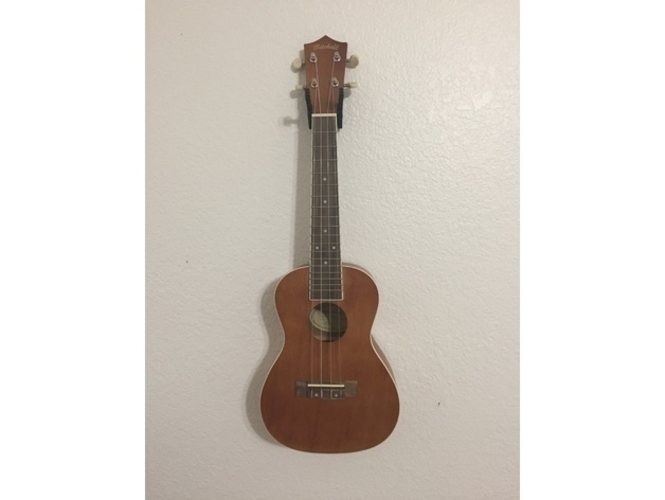3d printed ukulele wall mount by craigravi pinshape. Black Bedroom Furniture Sets. Home Design Ideas