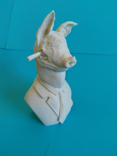 Pig Bust, The chief 3D Print 209077