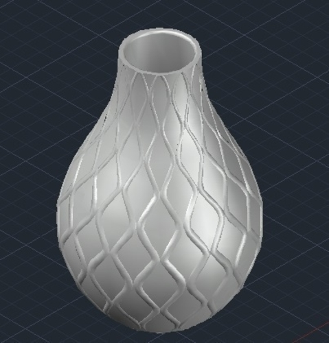 vase with waves 3D Print 209190
