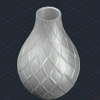 Small vase with waves 3D Printing 209190