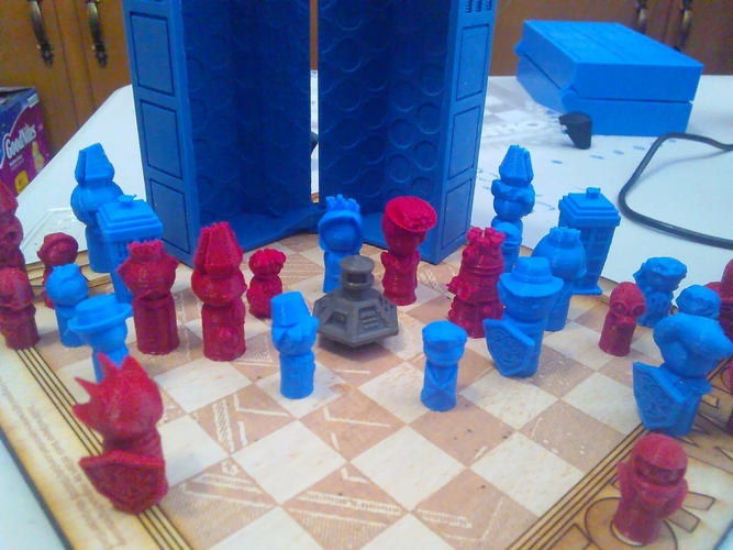 Doctor Who Chess Set Play Set 3D Print 209238