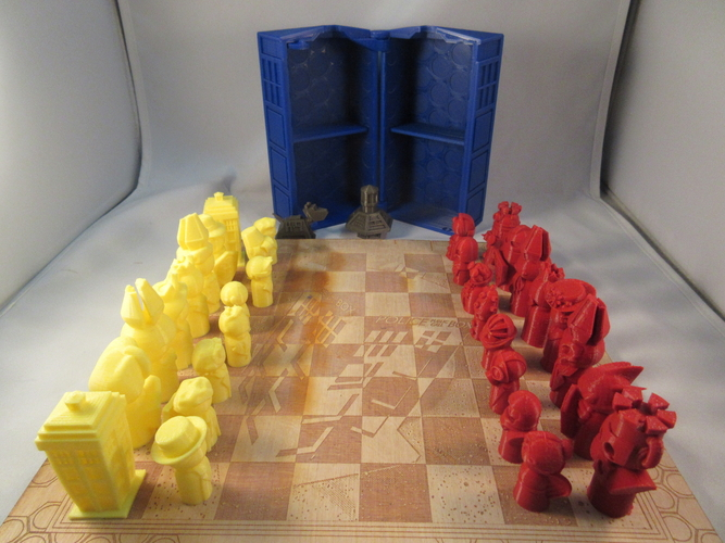 Doctor Who Chess Set Play Set 3D Print 209241