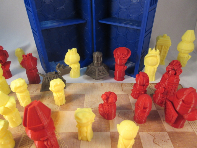 Doctor Who Chess Set Play Set 3D Print 209242