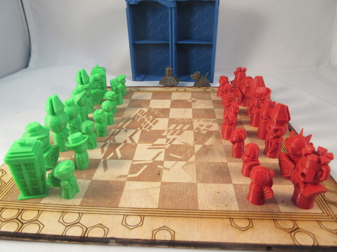 Doctor Who Chess Set Play Set 3D Print 209244
