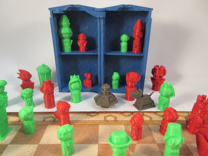 Doctor Who Chess Set Play Set 3D Print 209245