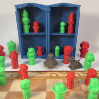Small Doctor Who Chess Set Play Set 3D Printing 209245