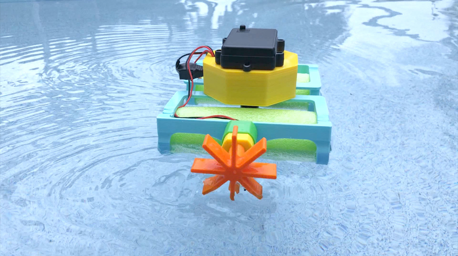 Crickit Paddle Wheel Boat 3D Print 209290