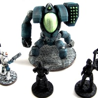 Small HV Highblood Command Pod, 28mm Miniature 3D Printing 2093