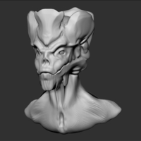 Small Alien Head 3D Printing 209482