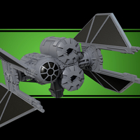 Small TIE Breacher - X-wing miniatures compatible 3D Printing 209483