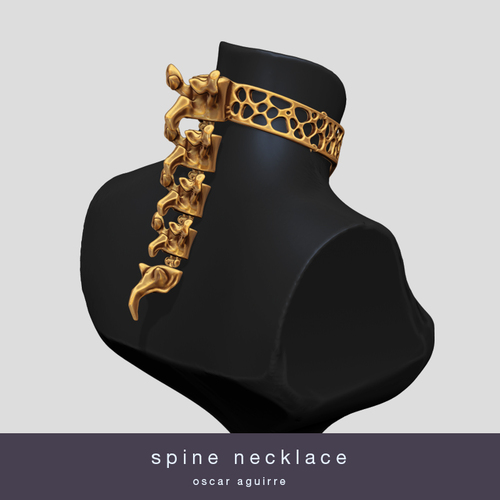 Spine Necklace 3D Print 20950