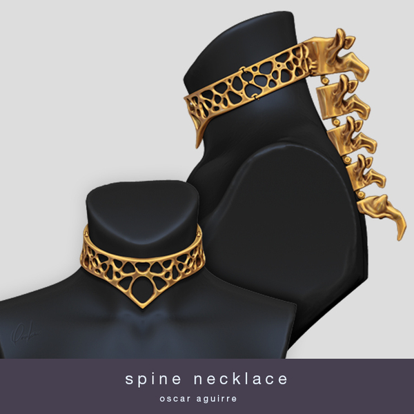 Medium Spine Necklace 3D Printing 20951