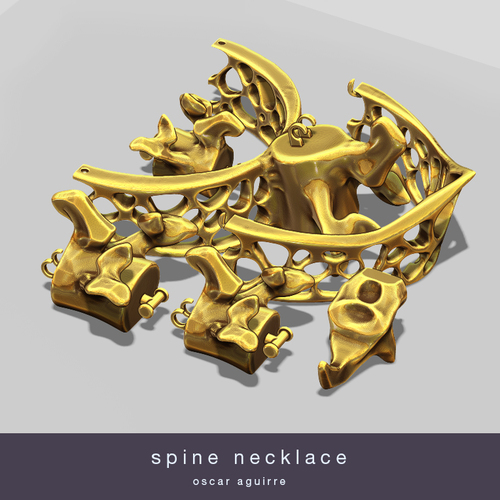 Spine Necklace 3D Print 20952