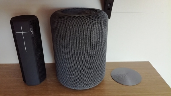 "Medium Portable speaker enclosure type ""HomePod"" 3D Printing 209547"