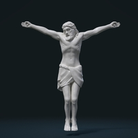 Small Crucified Jesus Christ 3D Printing 209748