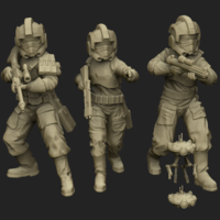 Small Ember Squad (with helmet) 3D Printing 209895