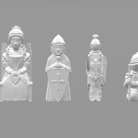 Small Chess Set 6 3D Printing 209989