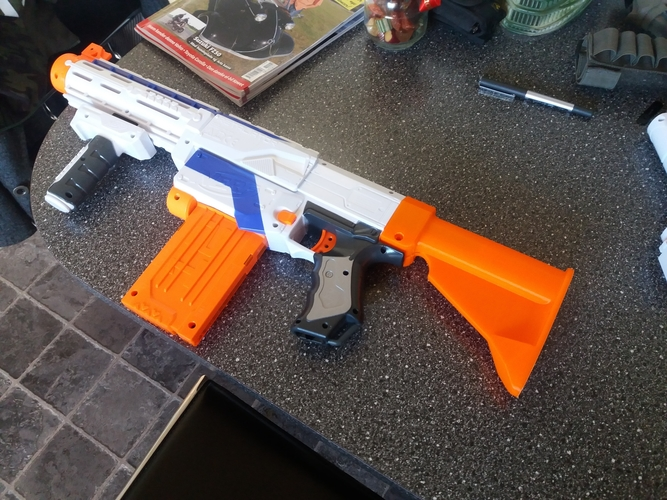 Nerf stock M4 style 3D Print 210021