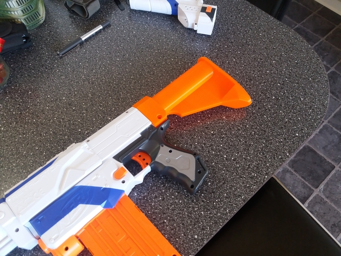 Nerf stock M4 style 3D Print 210022