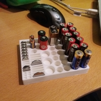Small Battery holder 3D Printing 210035