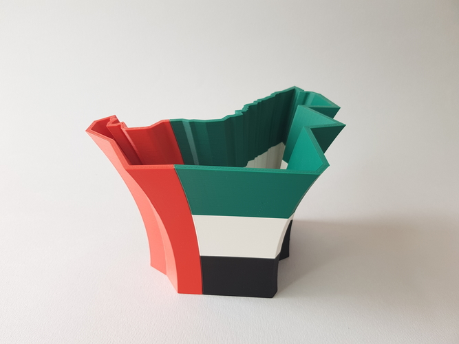 EDIT UAE MAP VASE 3D Print 210091