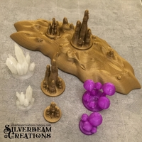 Small 28mm Cavern Terrain Set 3D Printing 210103