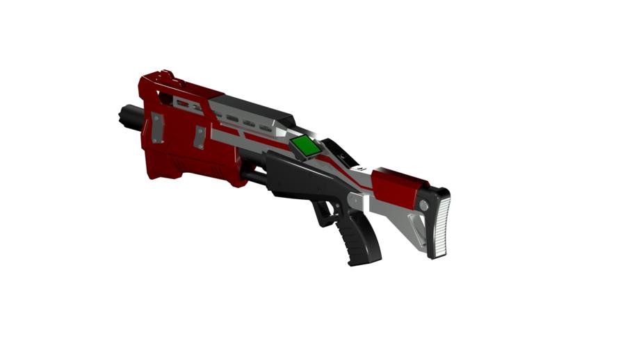 diy fortnite real size tactical shotgun hq printable kit 3d print 210172 - 3d fortnite png