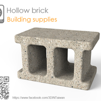 Small Hollow brick 3D Printing 210237