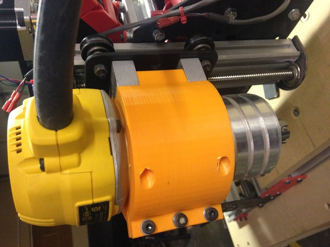 Low Leverage DW611 Spindle mount for Shapeoko 2 3D Print 21042