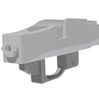 Small Tactical Reciver for amoeba striker 3D Printing 210750