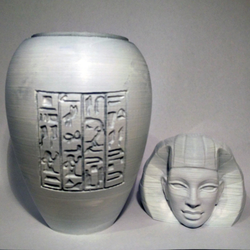 Ancient Egyptian Canopic Jar: Imsety 3D Print 210767