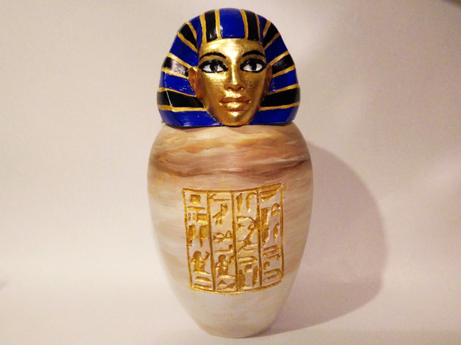 Ancient Egyptian Canopic Jar: Imsety 3D Print 210768