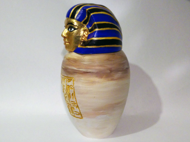 Ancient Egyptian Canopic Jar: Imsety 3D Print 210769