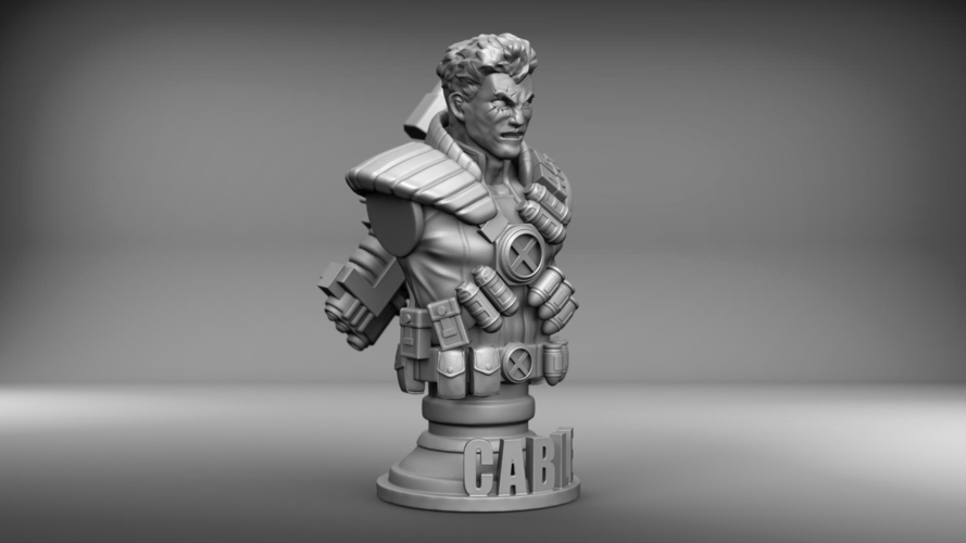 Marvel's Cable bust 3D Print 210814