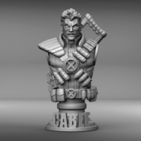 Small Marvel's Cable bust 3D Printing 210816