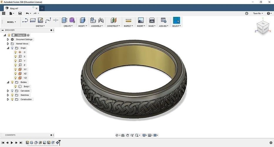 Celtic Ring 3D Print 210857