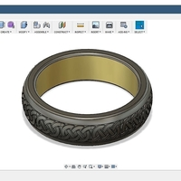 Small Celtic Ring 3D Printing 210857