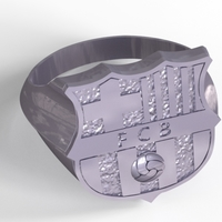 Small Barcelona ring  3D Printing 210864
