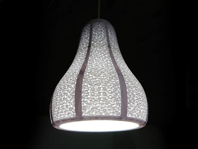 Lamp Shade with Visible Gyroid Infill 3D Print 210888