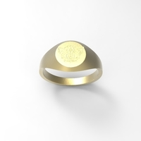 Small Signet Ring: Arcanum 3D Printing 210936
