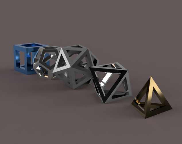 Platonic Solids Collection 3D Print 210941