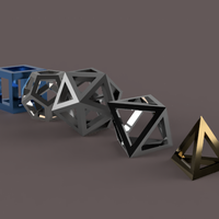 Small Platonic Solids Collection 3D Printing 210941