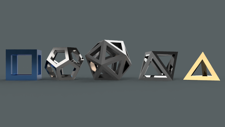 Platonic Solids Collection 3D Print 210942