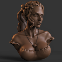 Small Flower Girl 3D Printing 210959