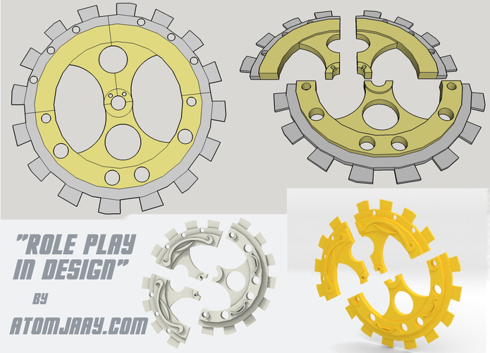 GearBox Clutch & Jewelry Set 3D Print 21097