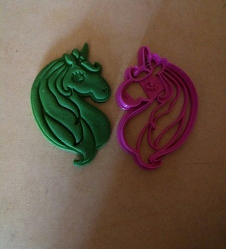 Unicorn head cookies cutter 3D Print 210990