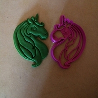 Small Unicorn head cookies cutter 3D Printing 210990