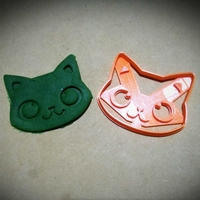 Small Cat Face Cookie cutter 3D Printing 211005