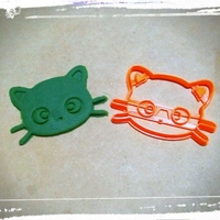 Small Cat face 2 cookie cutter 3D Printing 211007
